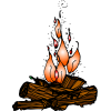 Pictures Free Campfire Clipart image #33971