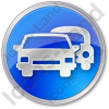 Car Rental Service Circle Blue Icon, /ico Icons, 256x256, 128x128 image #2424