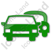 Car Rental Service Plain Green Icon, /ico Icons, 256x256, 128x128 image #2426