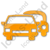 Car Rental Service Plain Orange Icon, /ico Icons, 256x256, 128x128 image #2435