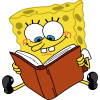 Cartoon Characters Spongebob Reading Book image #44249