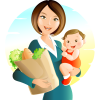 Cartoon Mother And Baby image #41491