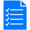 Checklist Icon Blue Blue, Checklist, Document image #1441