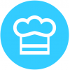Chef Hat, Food, Restaurant Icon image #13719