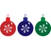 Christmas Ornaments, Red, Blue, Green image #46360