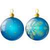 Christmas Ornaments Two Blue Ball image #46366