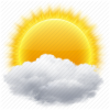 Cloud, Sun, Weather Icon image #11060