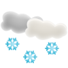 Cloud With Snowflake Icon image #31372