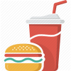 Coca, Coke, Drink, Fast Food, Food, Glass, Hamburger, Junk Food, Soft image #41604