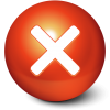 Cute Red Stop Ball Icon image #32288