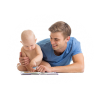 Dad With Baby Reading Png image #42614