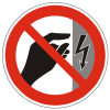 Danger Sign, Do Not Touch Power Icon image #20446