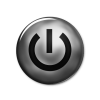 Dark Power Button Icon image #8345