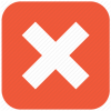 Delete, Error, Exit, Remove, Stop, X Cross Icon image #4622
