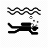 Diver Icon Dive, Diver, Diving Icon image #4429