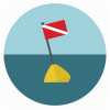 Diving Flag, Scuba Icon image #10966