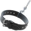 Dog Collar Black Leather Belt Pictures image #48106