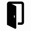 Door, Exit, Join Icon image #4621