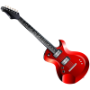 Clipart Red Guitar image #46330