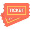 Download Ticket Ticket Free Entertainment Icon, Orange Ticket Design image #49014