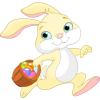 Easter Bunny Running  Clipart image #46575