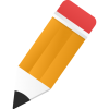 Edit Icon Orange Pencil image #3583