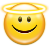 Emoticon Face Angel Icon thumbnail 4283