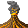 Explode, Explosion, Lava, Volcanic, Volcano Icon image #33651