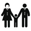Family, Family Room, Father, Happy, Mother, People, Son Icon image #35615