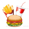 Fast Food Hamburger Fries And Drink Menu Preview  Fries Preview image #41601