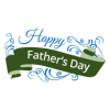 Fathers Day Ribbon Badge Transparent image #42540