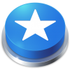 Favorites Star Blue Button Icon image #12310