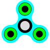 Fidget Spinner Pistachio Green And Light Blue Transparent Background Picture image #48309