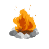 Fire On Stone, Bonfire Clipart image #47559