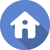 Flat Blue Home Icon image #40260