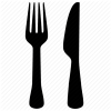 Fork Kitchen Knife Icon image #3662