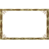 Transparent Frame Gold  Image image #28925