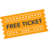 Free Ticket Transparent Background image #49036