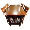 Galena Trestlend Table And Chairs Top View image #41428