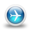 Glossy 3d Blue Plane Icon | Clean 3d Iconset | Mysitemywaym image #2517