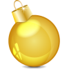 Gold Ball, Baubles, Christmas image #32850