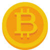 Gold Bitcoin Icon image #42918