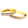 Gold Embroidered Wedding Ring image #45269