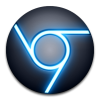 Google Chrome Icon Blue Black image #3153