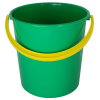 Green Bucket, Yellow Handle Clipart image #48894
