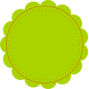 Green Circle Blank Price Tag image #9225