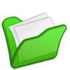 Green Folder Full Icon image #24502