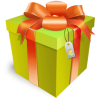 Green Gift Box Icon image #8150