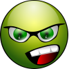 Green Happy Angry Face Icon image #4298
