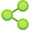 Green, Sharing, Share Icon image #40138